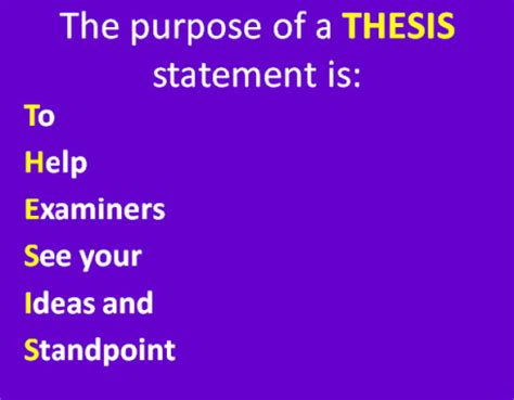 Great Writing: Example of a good thesis statement for a